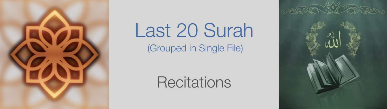 Last 20 Surah-Translations